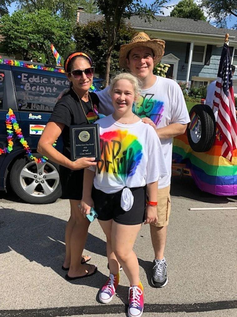 Molly Pinta and her parents, Carolyn and Bob Pinta