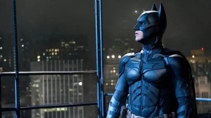 "Christian Bale as Batman in ""The Dark Knight Rises""."""