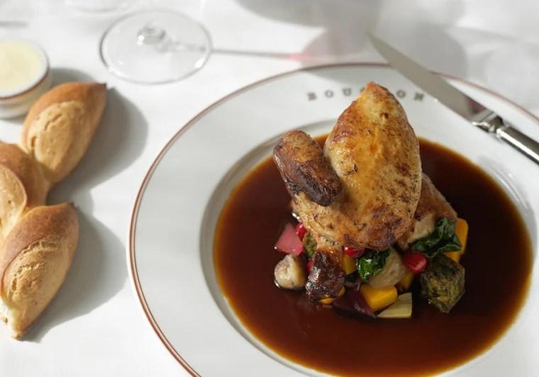 Chef Thomas Keller's poulet roti chicken dish