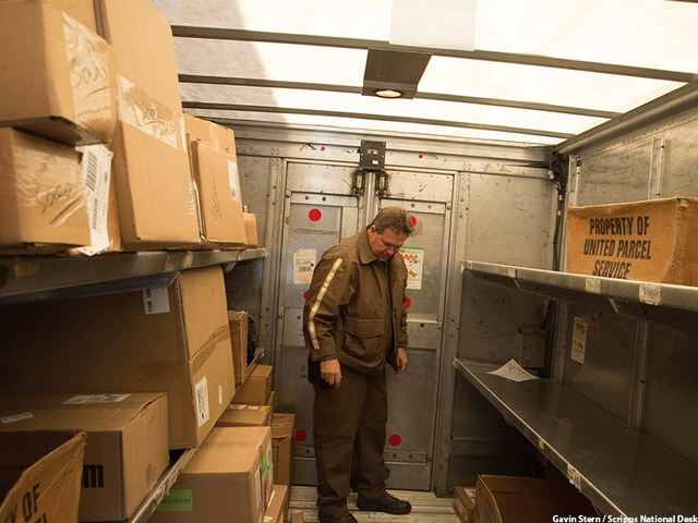 Inside Fedex Ground Delivery Truck