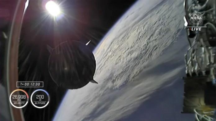 दूसरा चरण जुदाई।  साभार: NASA TV