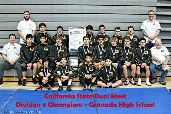 WrestlingWrestling- Granada Wins California State Dual Wrestling meet, Division 4 champions- Granada Wins State Dual