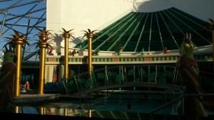 Ett av poolområdena