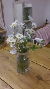 Catharina har plockat blommor