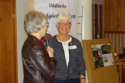 Ann-Christine Sjöström avtackas för sin tid i styrelsen
