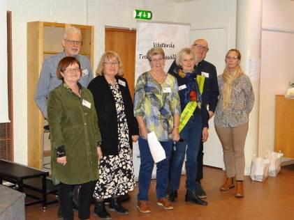 Styrelsen 2020 - Lena Åsberg (längst till höger) nyvald. Saknas gör Gunnar Edling och Ann-Sofi Freyhult