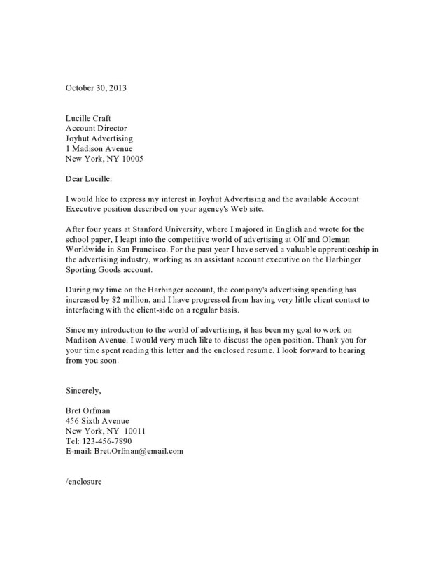 Cover Letter Samples  Templates  Examples  Vault.com