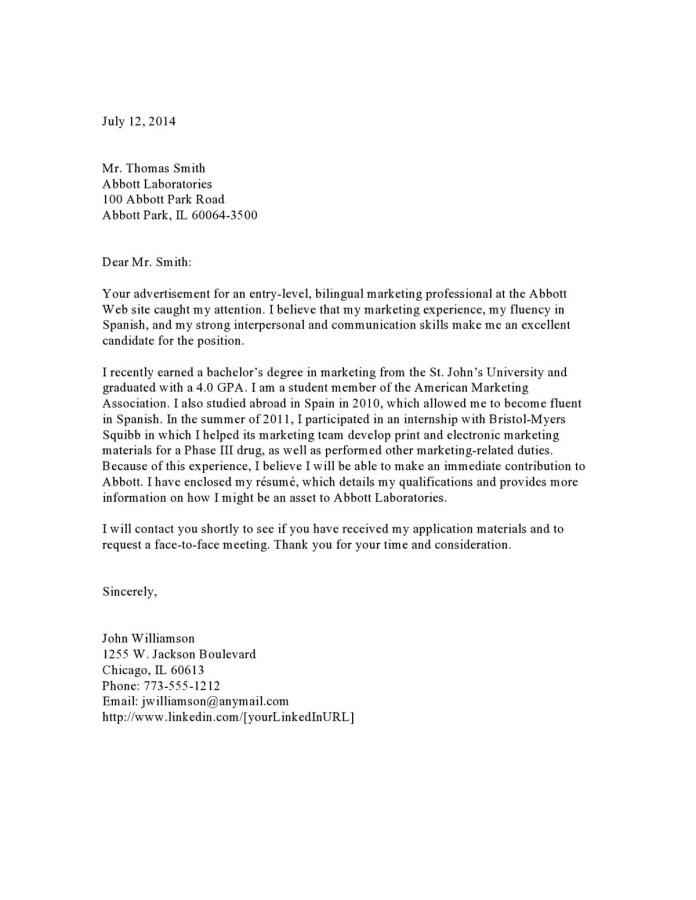 Pharmaceuticals Entry Level Cover Letter Samples Templates Vault Com