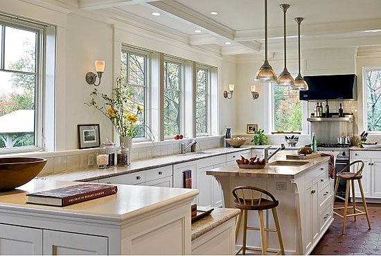 Modern White Country Kitchen
