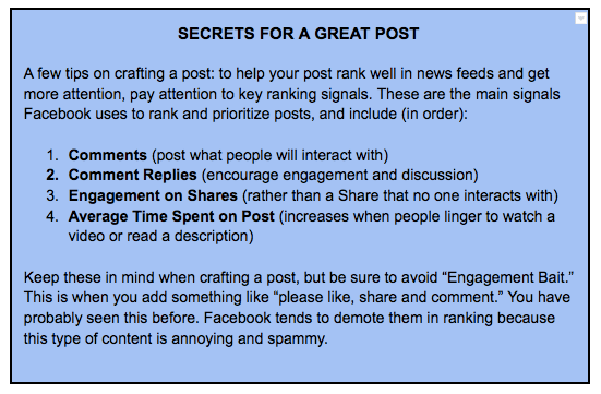 bonus tips for an effective post