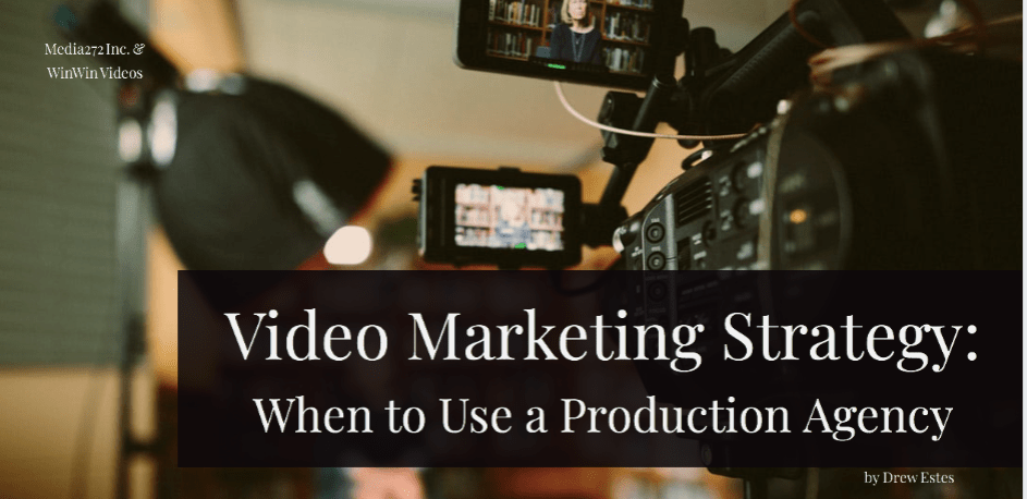 Title on photo of video production setup