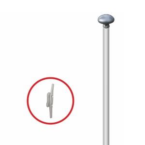 Maszt aluminiowy cylindryczny w wersji standard