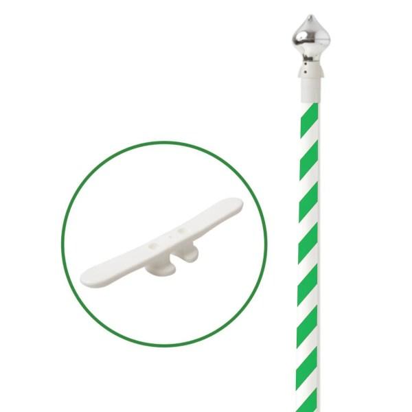 Maszt z włókna szklanego w wersji standard w kolorze biało zielonym