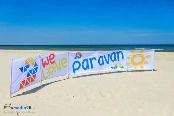 Parawan plażowy reklamowy