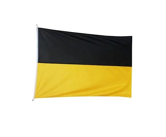 Flaga kaszubska czarno - żółta