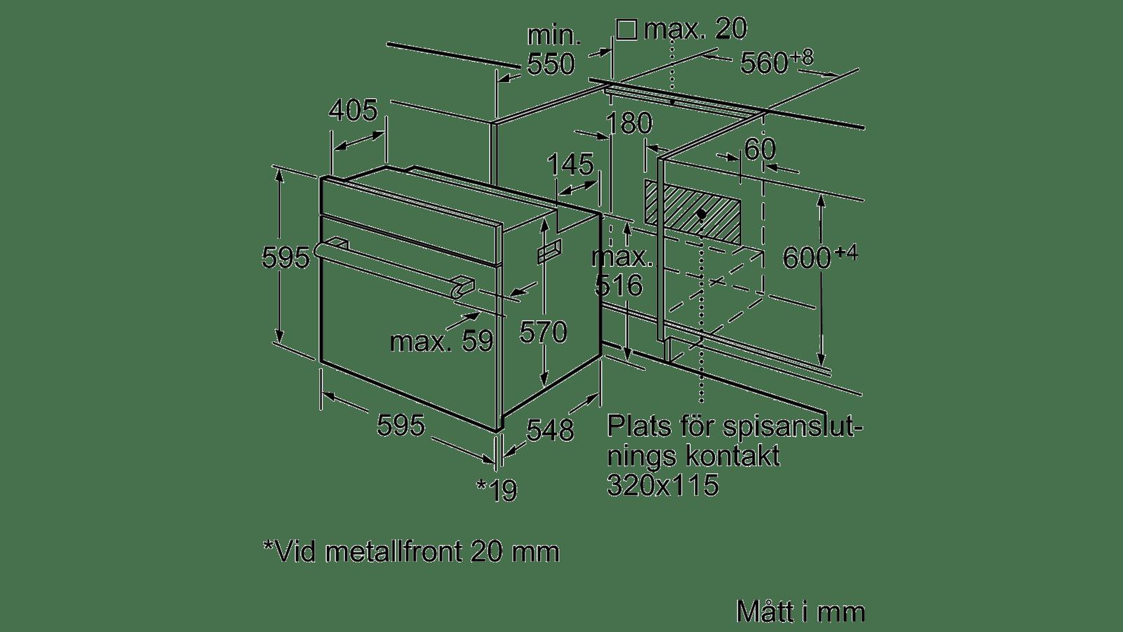 Kop Bosch Inbyggnadsugn Hea20b120s Fr N 5 598 Kr