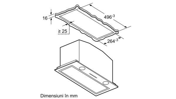 Serie | 6 Hotă încorporabilă 52 cm Inox DHL585B DHL585B-7