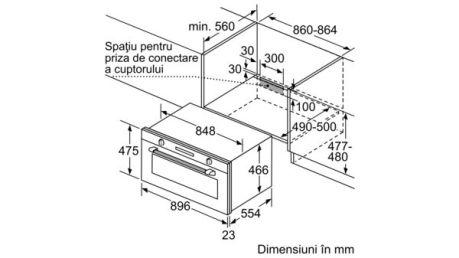 Serie   6 Cuptor multifuncțional, încorporabil 90 cm Inox VBC5580S0 VBC5580S0-5
