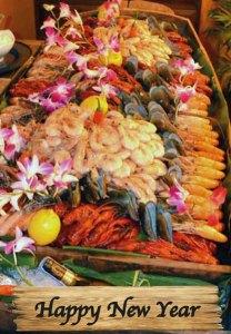 Happy New Year Seafood Buffet a Cajutan in Bangkok