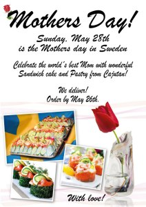 Mothers day with Swedish sandwich cake and pastry at Cajutan in Bangkok, Thailand