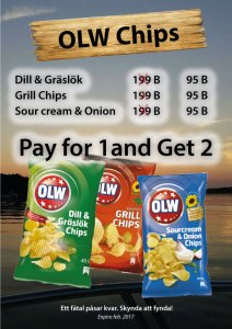 Swedish OLW Chips at Cajutan in Bangkok