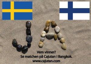 Ishockey, Sverige vs Finland ikväll på Cajutan i Bangkok