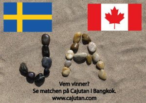 ishockey, Sverige vs Canada på Cajutan i Bangkok