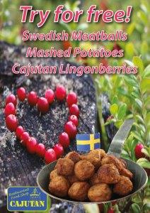 Swedish meatballs for free at Cajutan in Bangkok