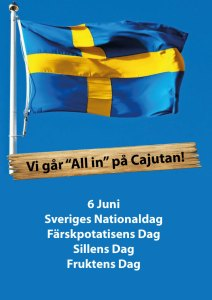 June 6th we celebrate Sweden's National Day, the fresh potato day, the day of herring and the day of the fruit! At Cajutan in Bangkok