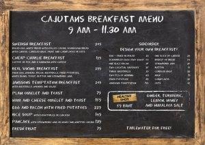 Swedish breakfast, meatballs, Janssons temptation at Cajutan in Bangkok