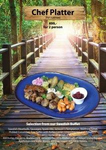 "Chef Platter, a taste of Swedish buffet, ""Smörgåsbord"" at Cajutan in Bangkok"