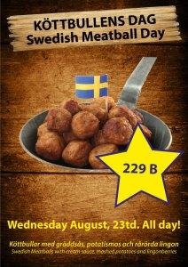 Swedish Meatball Day at Cajutan in Bangkok