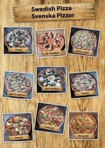 Swedish pizza, served with pizza salad at Cajutan in Bangkok