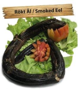 Rökt ål, på svenskt vis köper du på Cajutan i Bangkok