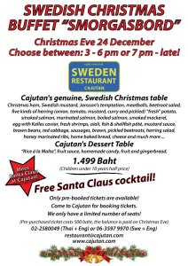 Swedish Christmas Buffet at Cajutan in Bangkok, Smorgasbord