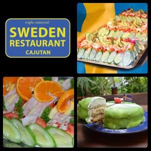 Svensk smörgåstårta, princesstårta på Cajutan i Bangkok