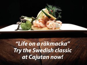 Swedish räkmacka at Cajutan in Bangkok