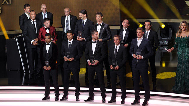 The FIFA/FIFPro World XI 2013.