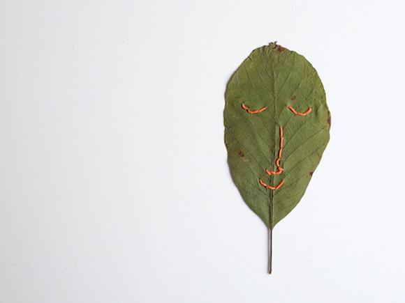 DIY Stitched Leaf