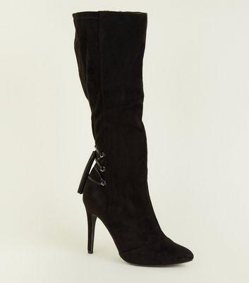 12457500c07 Knee High Lace Up Stiletto Boots | Unixpaint