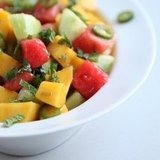 Cucumber, Watermelon, and Mango Salad Recipe