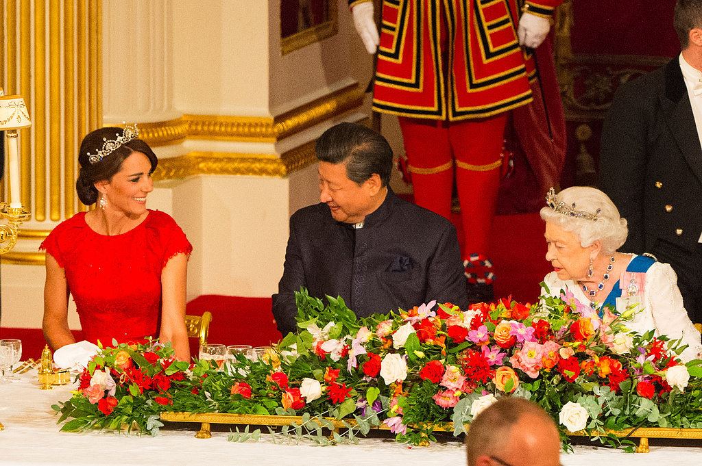 Prince William and Kate Middleton Attend a State Banquet at Buckingham Palace