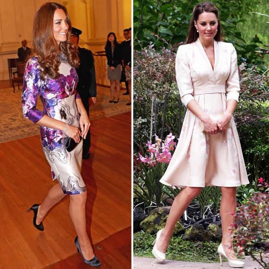 Kate Middleton Wears Two Floral Frocks In Singapore For