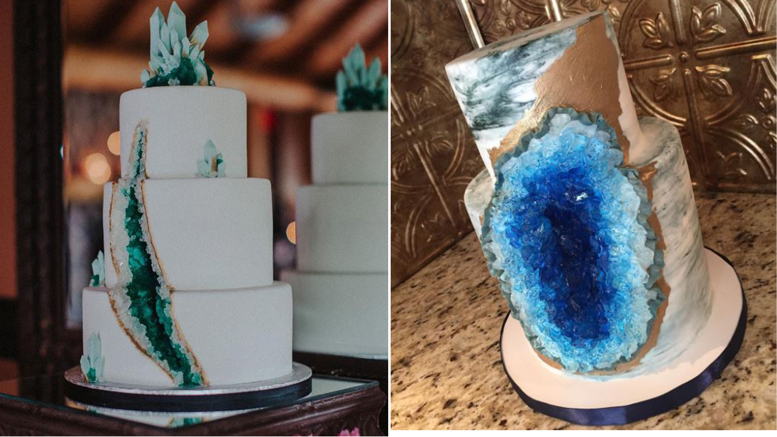 Wedding Cakes That Rock Geode Cakes Are Trendy And