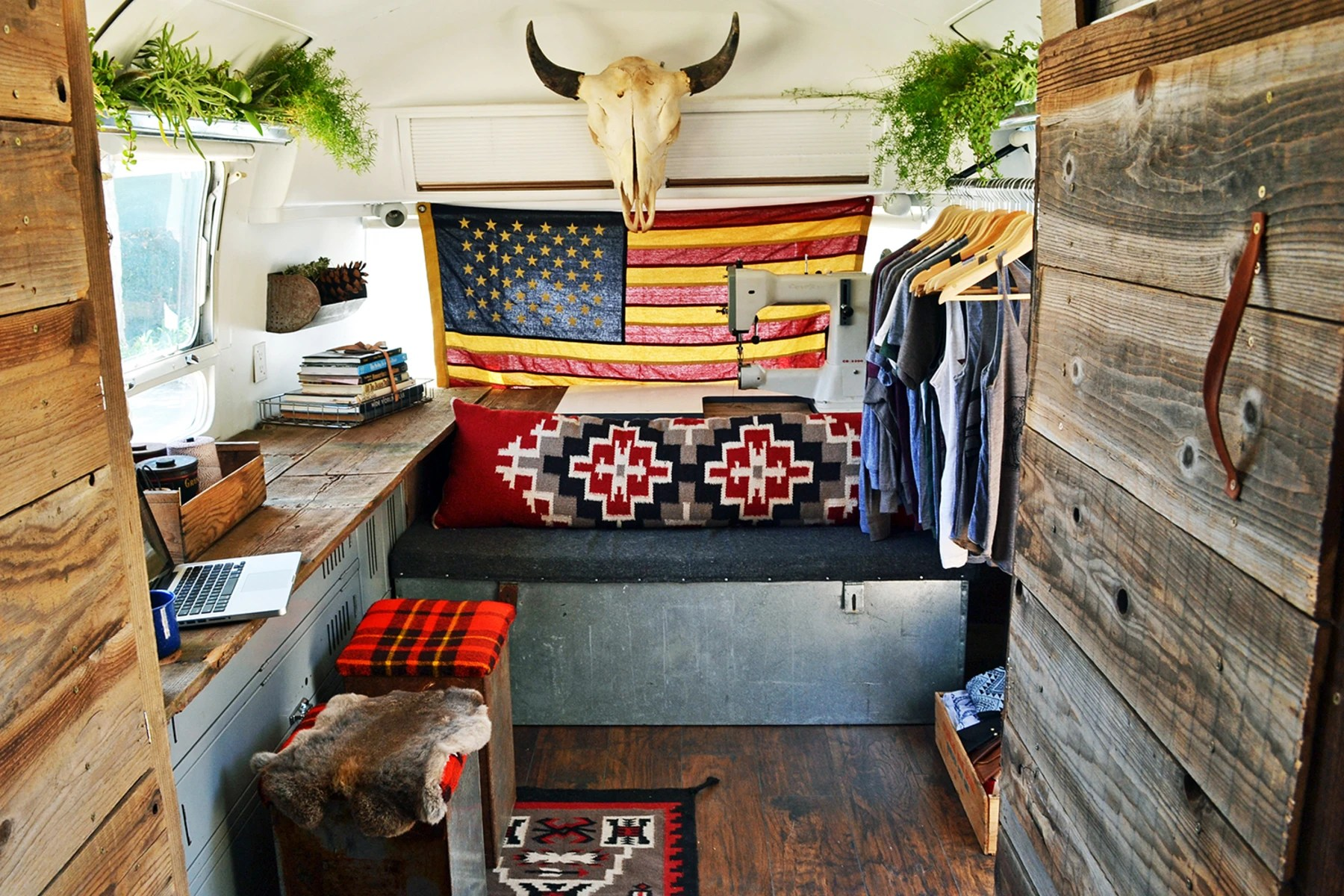See Inside The Cozy Airstream Trailer A Father And