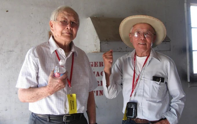 "Mamoru ""Mori"" and James Tanimoto were two of about 35 men from Tule Lake's Block 42, who had been illegally arrested at gun point in 1943 for refusing to register for the controversial loyalty questionnaire."