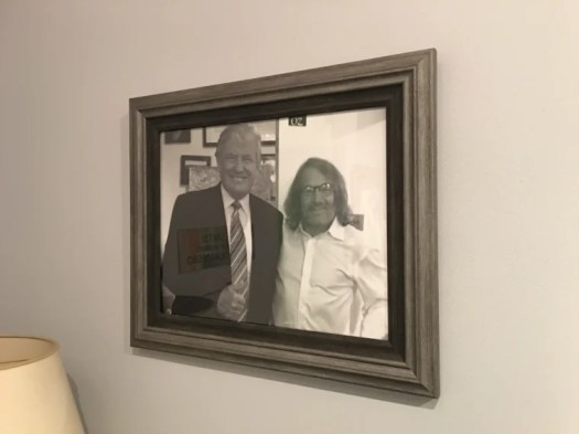 Donald Trump and his personal physician Harold Bornstein in a photo that used to hang on his office wall. Bornstein said he was asked to take the photo down.