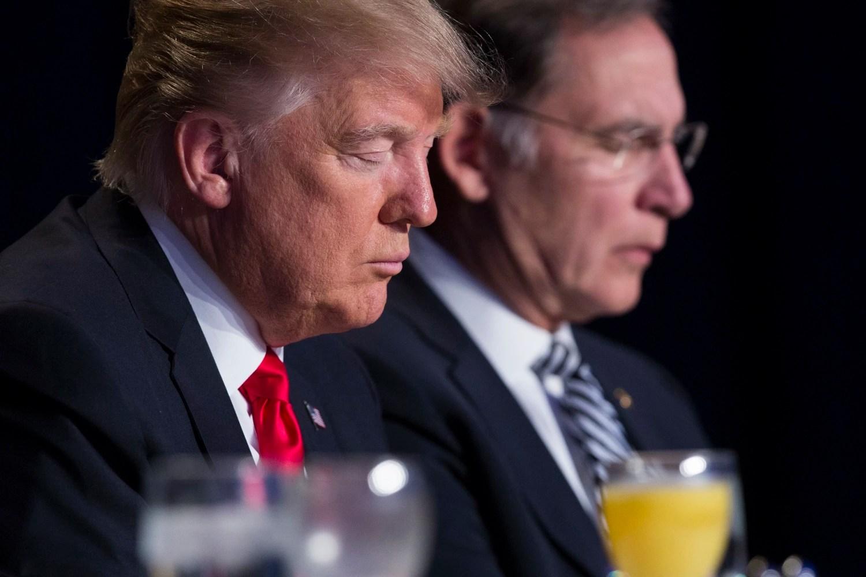 Image result for Trump Prayer Breakfast