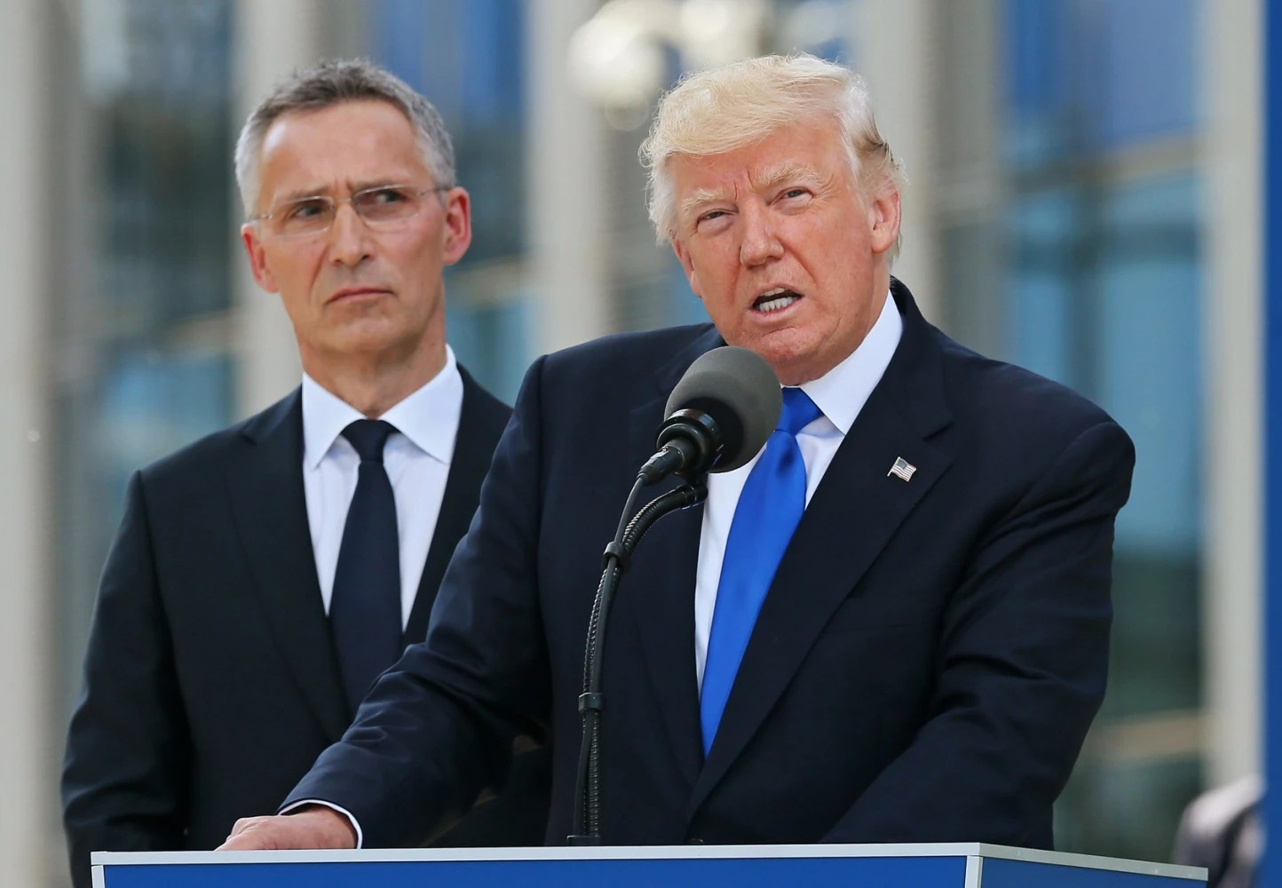 Donald Trump Appears to Shove Prime Minister Dusko Markovic at NATO Meeting