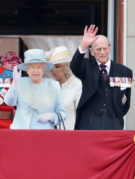 Image: Prince Philip with the queen at the official Trooping The Colour ceremony Sat 17 June.